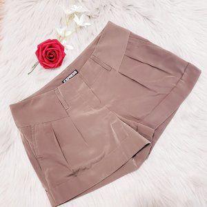 Express Brown Silk Dressy Shorts Summer Size 00